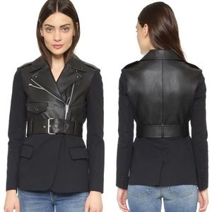 Alexander Wang Hybrid Leather Blazer